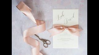 Elegant DIY Wedding Invitation with Simple Bow Style Knot
