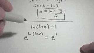Properties of Logarithms - Part 2 - Solving Logarithmic Equations