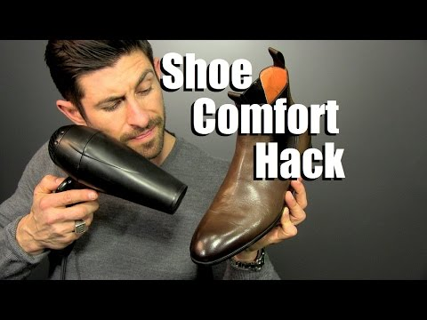 Break In A Pair Of Shoes In Minutes With A Hair Dryer