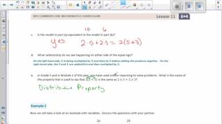 Math 6 Module 4 Lesson 11 Video