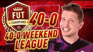 40-0 IN FIFA 18 WEEKEND LEAGUE! GAMEPLAY & TACTICS - WHAT A GOALKEEPER!