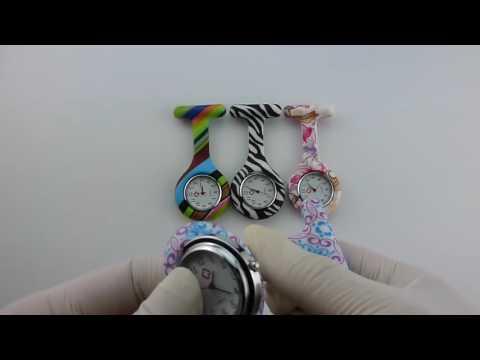 Las enfermeras Easyinsmile colorido de la manera modelada Silicon relojes del Fob del Caucho