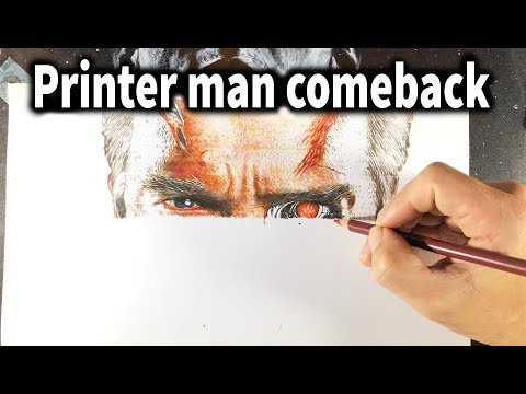 I Draw Like A Color Printer ( Drawing Terminator ) - DP Truong