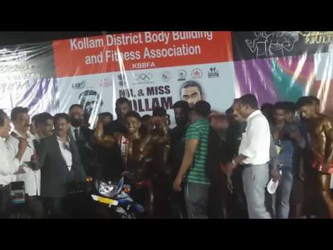 Mr kollam title|Bodybuilding competition|Kollam