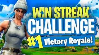 WIN STREAK CHALLENGE! - Fortnite Battle Royale