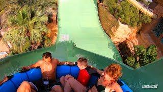 [4K] AquaConda & Zoomerango Water Slides Ride - Atlantis Water Park