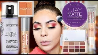 NEW DRUGSTORE MAKEUP 2018: FULL FACE FIRST IMPRESSIONS + ALL DAY WEAR TEST! | JuicyJas - Video Youtube