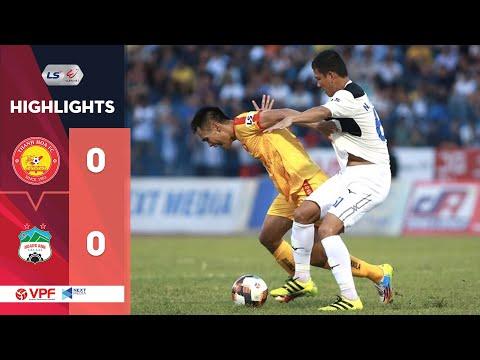 Highlights   Thanh Hóa - HAGL   Chia điểm ngày Anh Đức tái xuất sân cỏ