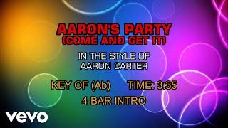 Aaron Carter - Aaron's Party (Come Get It) (Karaoke)