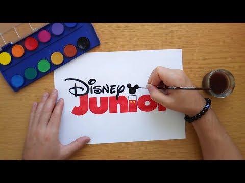 How to draw the Disney Junior logo