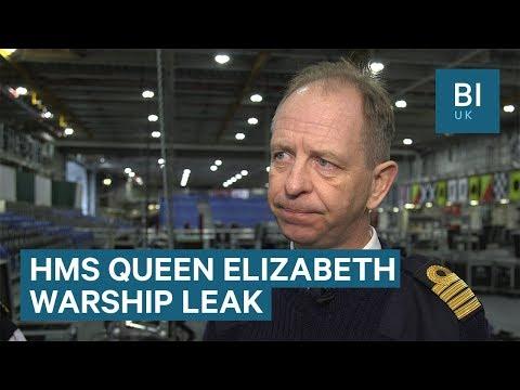 HMS Queen Elizabeth's commanding officer: ship 'works very well' despite leak
