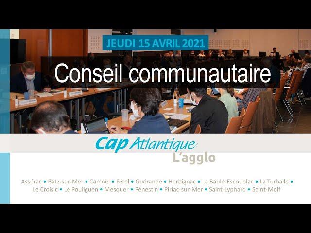 Conseil communautaire du 15 avril 2021