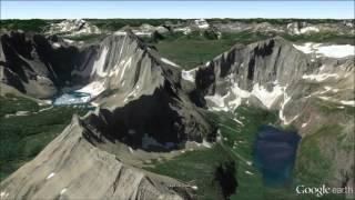 Glacier National Park Fly-Through Tour - Google Earth