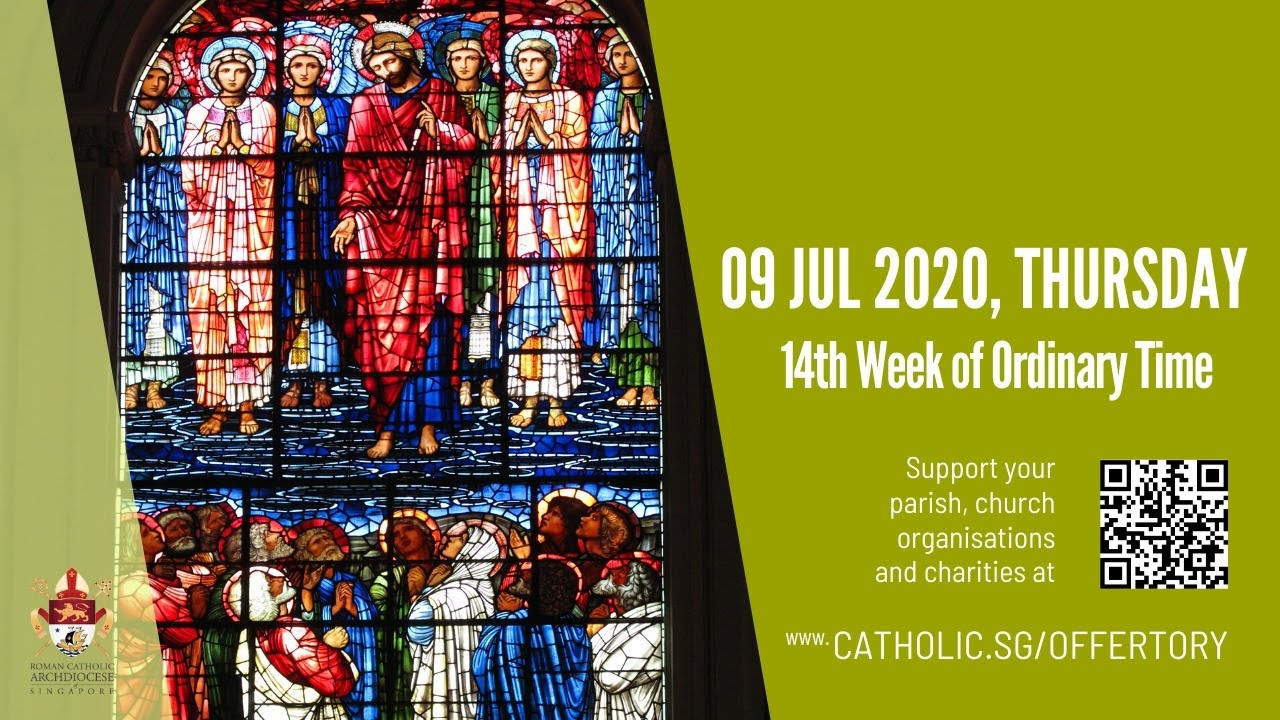 Catholic Online Daily Mass Today Thursday 9th July 2020 - Live From Archdiocese of Singapore