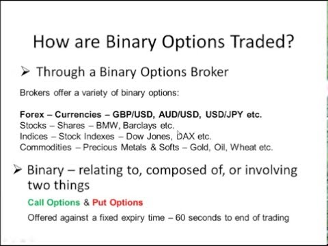Beginners Binary Options Course: What is binary options? - YouTube