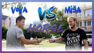 PARKOUR HORSE CHALLENGE #1 | VOVA VS MIŠA
