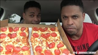 Little Caesars Stuffed Crust Deep Deep Dish Pizza Review. @hodgetwins