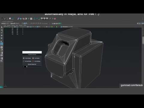 [Maya/Free] Face-Weighted Vertex Normals Tool — polycount
