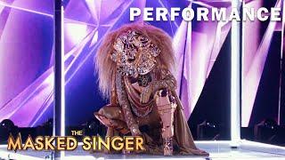 "Lion sings ""Diamond Heart"" by Lady Gaga   THE MASKED SINGER   SEASON 1"