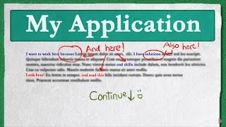 How to write a good job application - University of Copenhagen