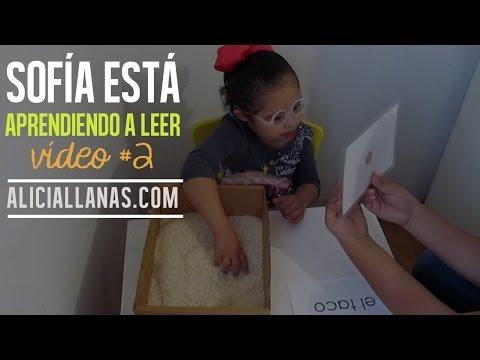 Veure vídeoSíndrome de Down: Sofía está aprendiendo a leer
