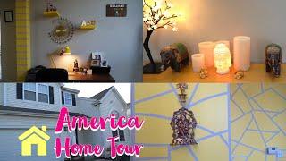 America வீட்டை சுற்றி பார்க்கலாம் வாங்க |Indian Home Tour In Usa Part-1|Tamil Vlog