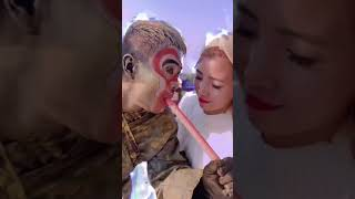Sculpture Performer ,  Sculpture Asia Play with Cute Girl Funny Part 28