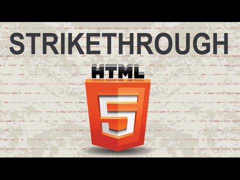 Create Strikethrough in HTML