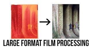 LARGE FORMAT FILM PROCESSING   C41   4x5