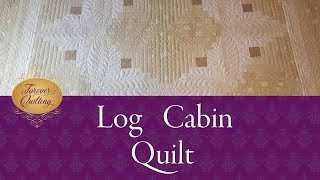 Free Motion Quilting On A Log Cabin Quilt