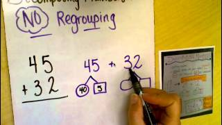 Double Digit Addition Decomposing Method-NO Regrouping