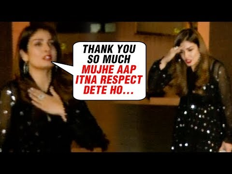 Raveena Tandon Shows RESPECT and CARE For Media At