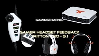 Gamer/Gaming Headset - Tritton pro + 5.1 Feedback und Testbericht 2015