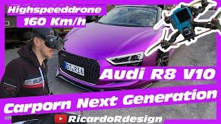 Carporn Next Generation: Purple Audi R8 V10 meets FPV Highspeeddrone