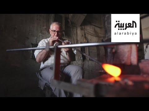 العرب اليوم - شاهد: صناعة الزجاج الملون مهنة سورية تقاوم الاندثار