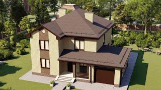 Проект дома 202-A, Площадь дома: 202 м2, Размер дома:  13,2x14 м