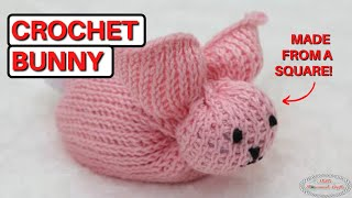How to: Crochet Bunny from a Square