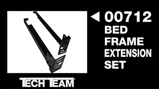 Tech Team's #00712 Extensions for Metal Bed Frames for Attaching Headboards and Footboards