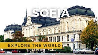 Walking in Sofia 4K, Bulgaria 2017