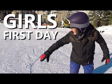 Girls First Day Snowboarding - Beginner Snowboard Tips