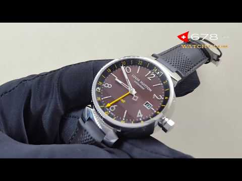 Louis Vuitton Tambour Brown GMT Q1155