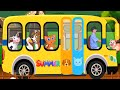🚌 The Wheels on the Bus – Animal Sounds Song | Nursery Rhymes for Children 🚌