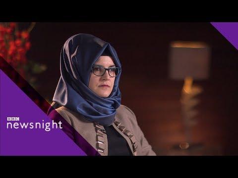 Jamal Khashoggi's fiancee, Hatice Cengiz, on his murder - BBC Newsnight