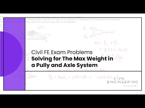 Civil FE Exam - Solving for The Max Weight in a Pully and Axle ...