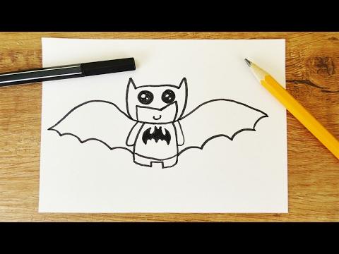 BATMAN KAWAII DIY | niedliche Superhelden Fledermaus zeichnen