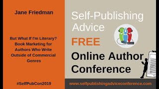Jane Friedman: Book Marketing for Authors Who Write Outside of Commercial Genres