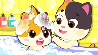 Help Baby Kitten Wash Hair | Make Different Hairstyles | Kids Good Habits & Safety Tips | BabyBus