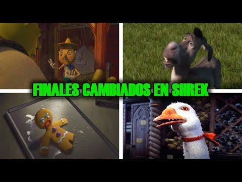 Finales Que Cambiaron de Personajes de Cuentos de Hadas en SHREK Comparado con los de DISNEY