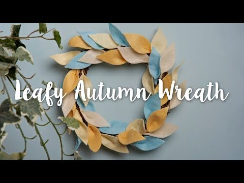 How to Make this Soft Autumn Wreath!