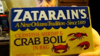Zatarain's Craqfish shrimp & crab boil in a bag product test in the ninja cooking system